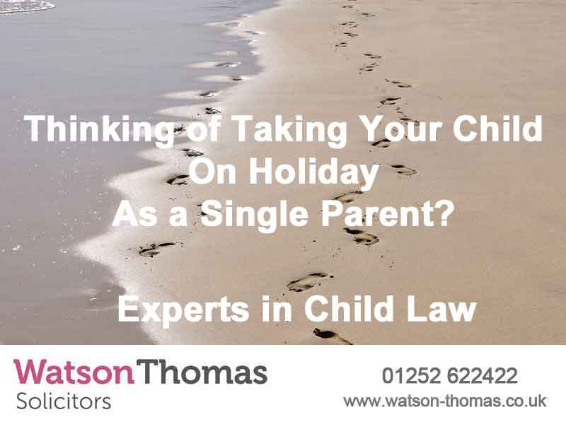 can i take my child on holiday